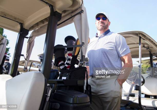 Former NHL player John LeClair looks on during the Julius Erving Golf Classic at The ACE Club on September 11 2017 in Lafayette Hill Pennsylvania