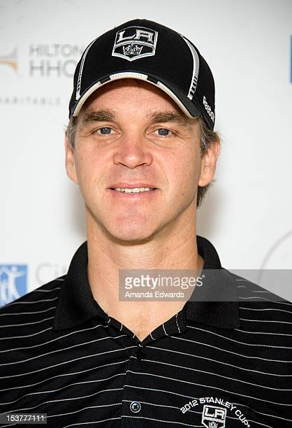 Former NHL player Luc Robitaille arrives at the 6th Annual Hilton HHonors Charitable Golf Series at The Riviera Country Club on October 8 2012 in...