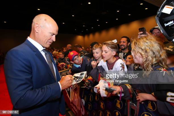 Former NHL player Mark Messier arrives at the 2018 NHL Awards presented by Hulu at the Hard Rock Hotel Casino on June 20 2018 in Las Vegas Nevada