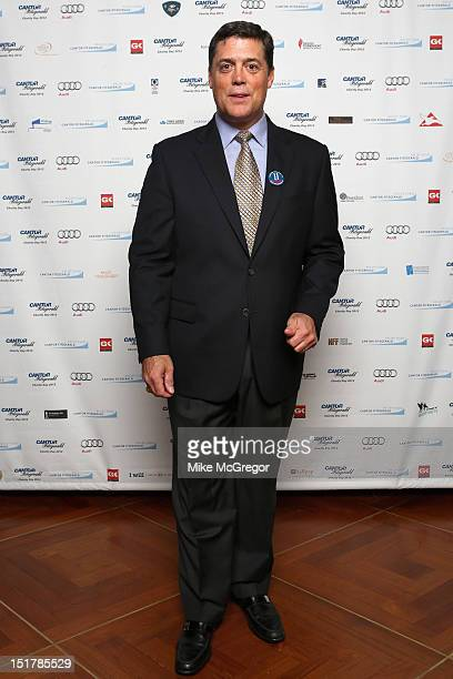 Former NHL player Pat LaFontaine attends Cantor Fitzgerald BGC Partners host annual charity day on 9/11 to benefit over 100 charities worldwide at...