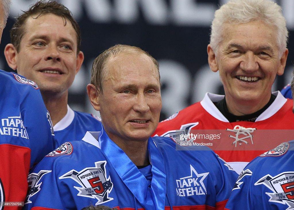 Vladimir Putin Plays Ice Hockey On His 63rd Birthday
