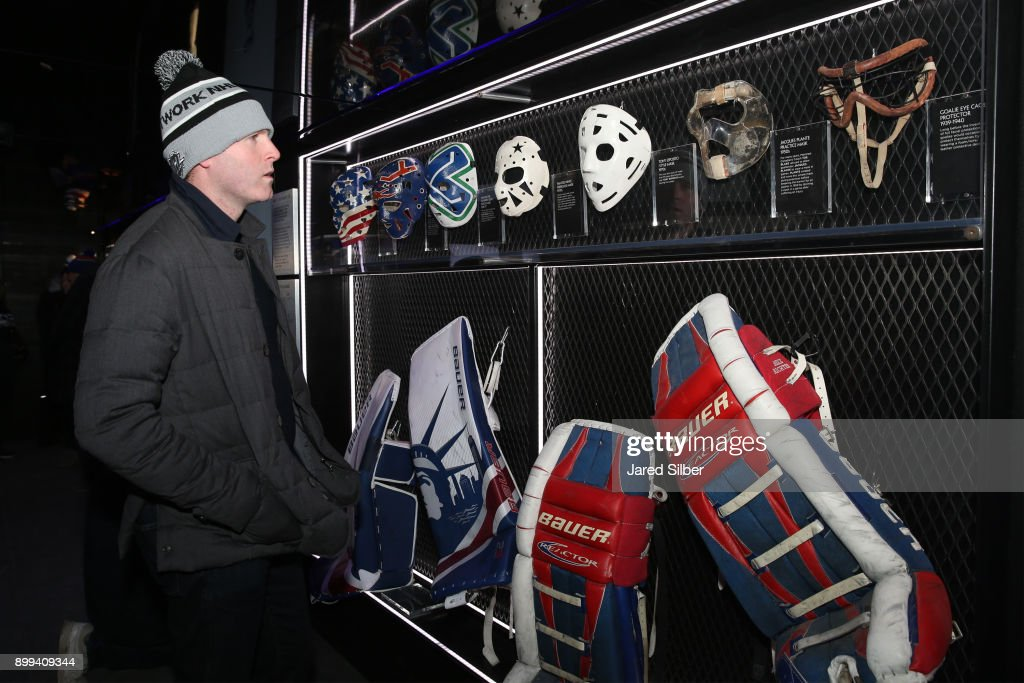 Former Nhl Player Ryan Whitney Looks At Old School Goalie Masks On