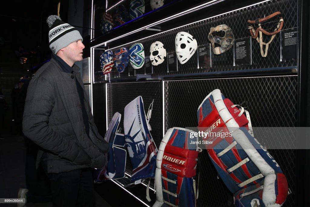 Former Nhl Player Ryan Whitney Looks At Old School Goalie Masks On