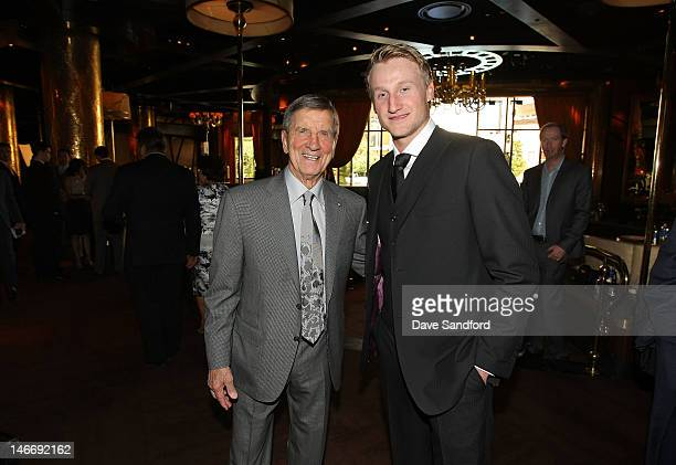 Former NHL player Ted Lindsay and Steven Stamkos of the Tampa Bay Lightning arrive before the 2012 NHL Awards at the Encore Theater at the Wynn Las...