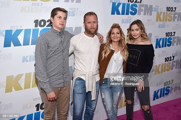Former NHL player Valeri Bure , actress Candace Cameron-Bure and their children attend KIIS FM's Wango Tango 2016 at StubHub Center on May 14, 2016...