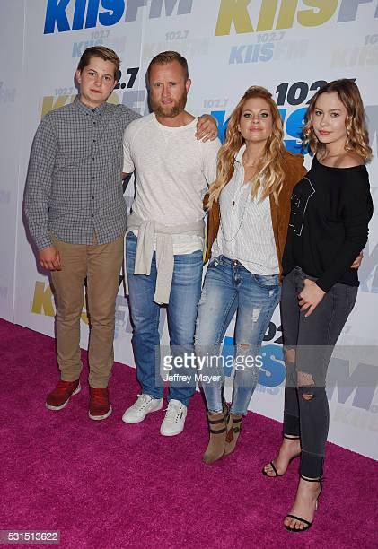 Former NHL player Valeri Bure and actress Candace CameronBure and their children attend the 1027 KIIS FM's Wango Tango 2016 at the StubHub Center on...