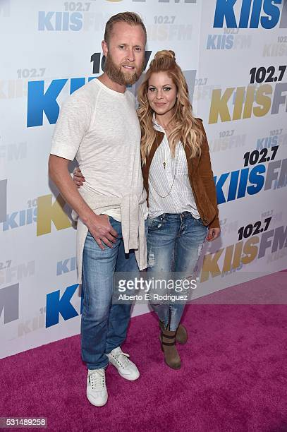 Former NHL player Valeri Bure and actress Candace Cameron-Bure attend KIIS FM's Wango Tango 2016 at StubHub Center on May 14, 2016 in Carson,...