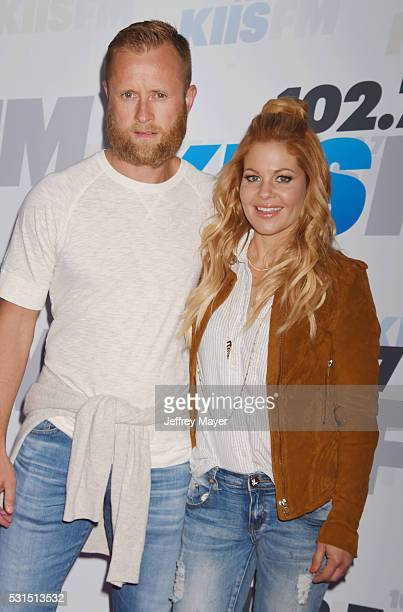 Former NHL player Valeri Bure and actress Candace Cameron-Bure attend the 102.7 KIIS FM's Wango Tango 2016 at the StubHub Center on May 14, 2016 in...