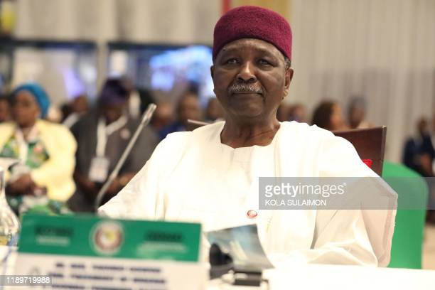 Former Nigerian Head of State, Yakubu Gowon attends the fifty-sixth ordinary session of the Economic Community of West African States in Abuja on...