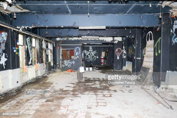 A former night club inside the modern part of Hopwood Hall which US film actor Hopwood DePree XIV hopes to restore to its former glory on September...