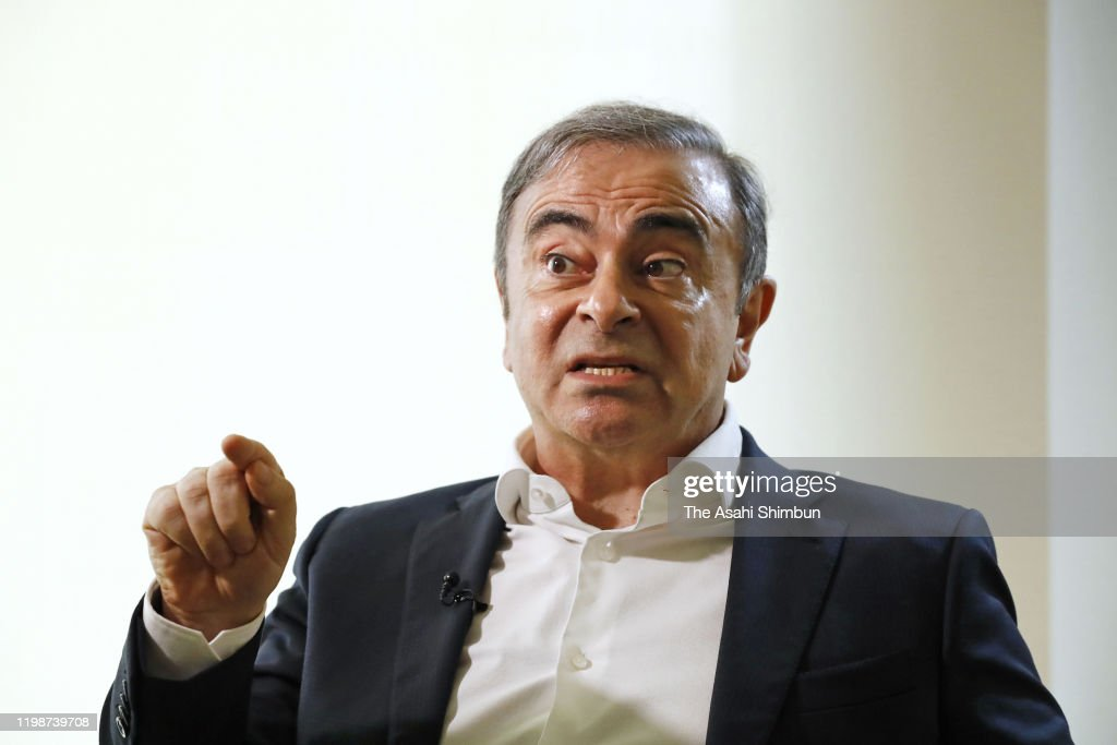 Former Nissan Motor CEO Carlos Ghosn Group Interview : News Photo