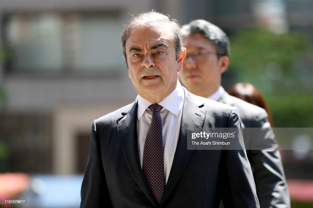 Former Nissan Chairman Ghosn Attends Pretrial Procedures : News Photo