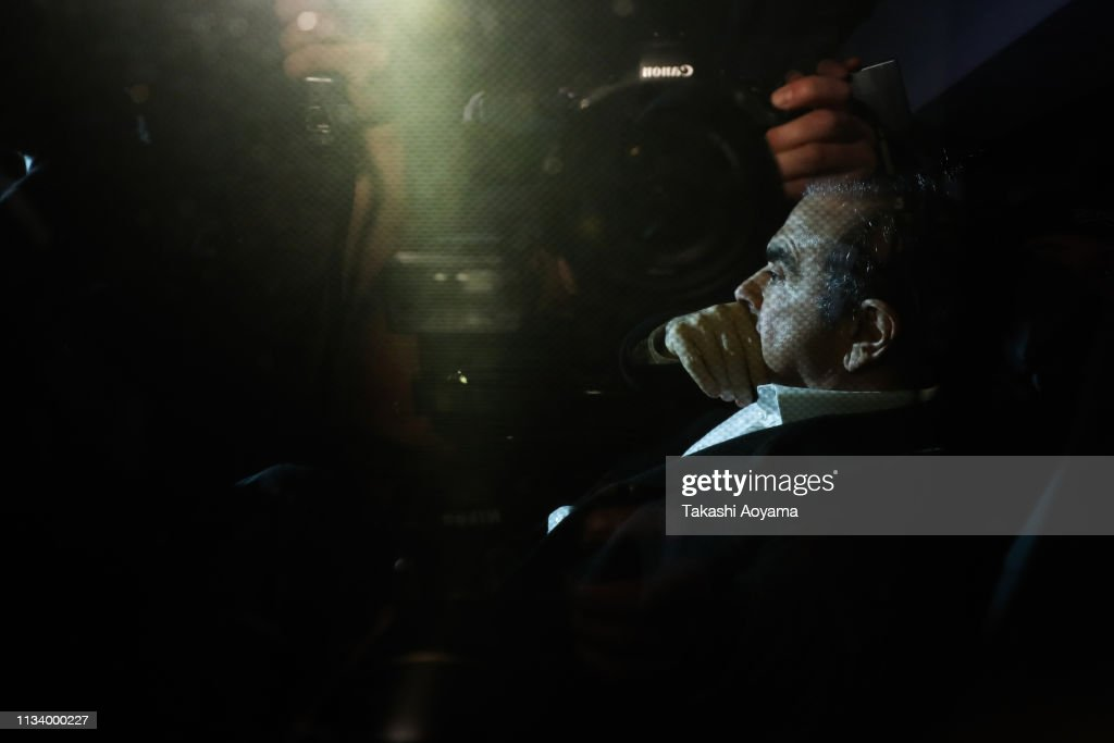 Carlos Ghosn Under Charge For Financial Misconduct : News Photo
