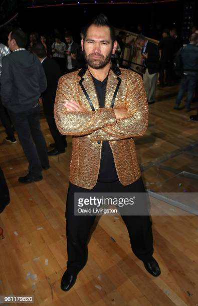 Former NLB player Johnny Damon poses at ABC's 'Dancing with the Stars Athletes' Season 26 Finale on May 21 2018 in Los Angeles California