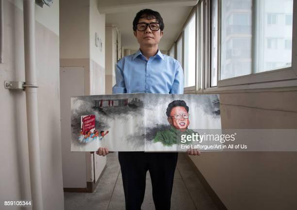 Former north Korea propaganda artist called Song Byeok National Capital Area Seoul South Korea on September 6 2017 in Seoul South Korea