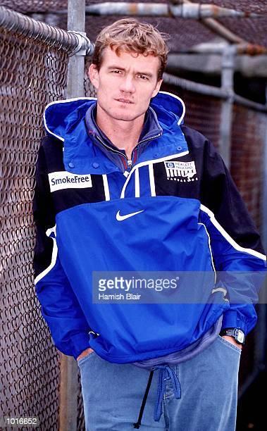 Former North Melbourne player Dean Laidley returns to his old club at Arden Street Melbourne Australia Mandatory Credit Hamish Blair/ALLSPORT