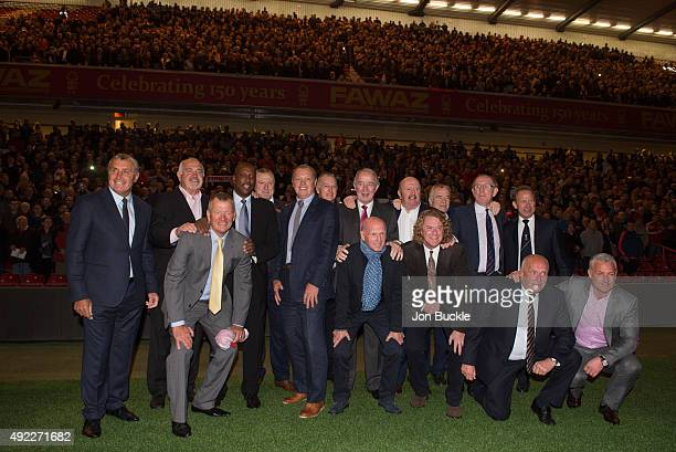 Former Nottingham Forest players Trevor Francis Garry Birtles Viv Anderson Larry Lloyd John Robertson Kenny Burns Ian Bowyer John McGovern Frank...