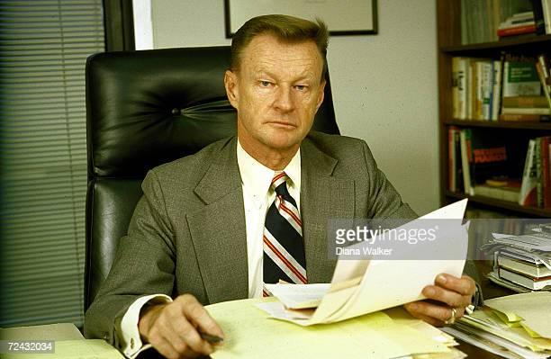 Former NSC head Zbigniew Brzezinski in his office