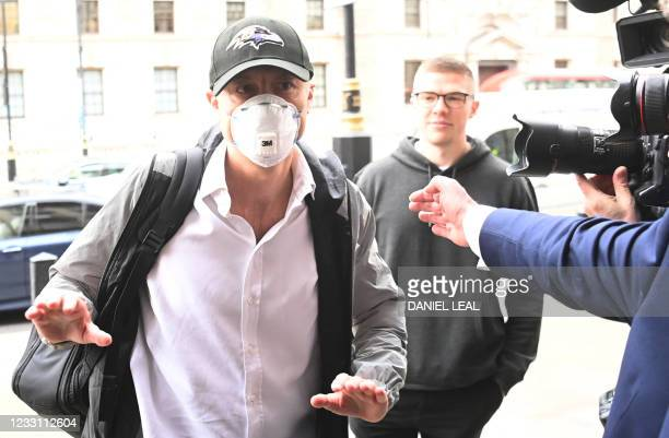Former number 10 special advisor Dominic Cummings arrives at Portcullis House in London on May 26, 2021. - Dominic Cummings, British Prime Minister...
