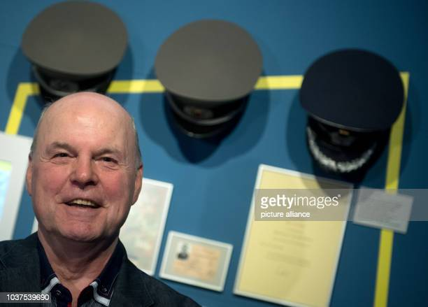 Former NVA officer Udo Besser photographed during a preview at the Zeitgeschichtliches Forum in Leipzig Germany 16 March 2017 The exhibition titled...