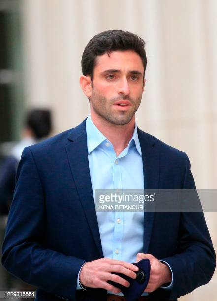 Former NXVIUM member Marc Elliott leaves the Brooklyn federal court after Rainiere was sentenced to 120 years in prison on October 27, 2020 in New...