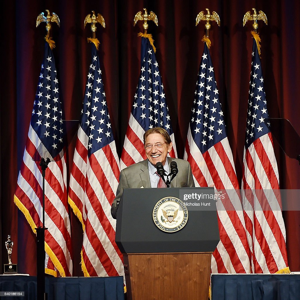 Former NY Jet and Pro Football Hall of Fame quarterback, event honoree Joe Namath speaks at the 75th Annual Father Of The Year Awards Luncheon at New York Marriott Marquis Hotel on June 14, 2016 in New York City.