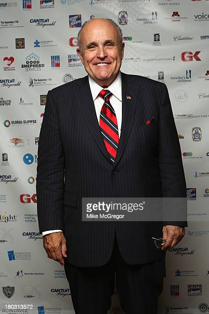 Former NY mayor Rudy Giuliani attends the Annual Charity Day Hosted By Cantor Fitzgerald And BGC at the Cantor Fitzgerald Office on September 11 2013...