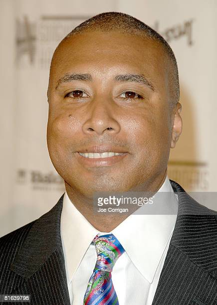 Former NY Yankee All Star center fielder/musician Bernie Williams attends the 39th Annual Songwriters Hall Of Fame awards dinner on June 19 2008 at...