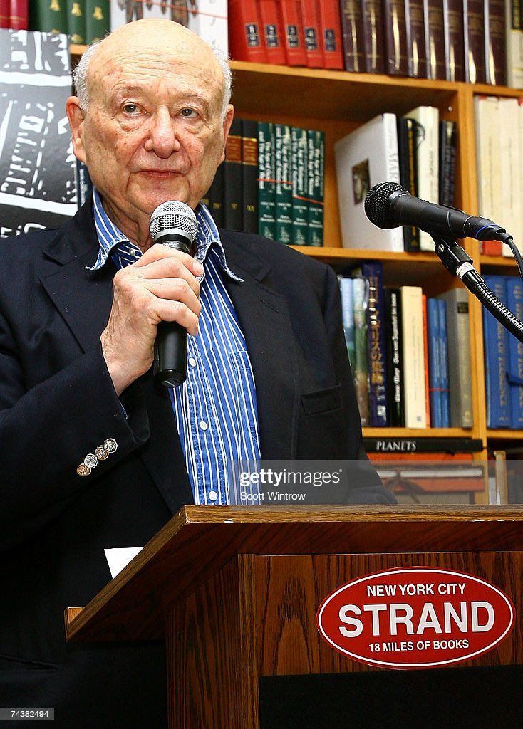 Former NYC Mayor Ed Koch hosts the Publisher Weekly's celebration party for Strand Bookstore's 80 years in business at Strand Bookstore on June 02, 2007 in New York City.