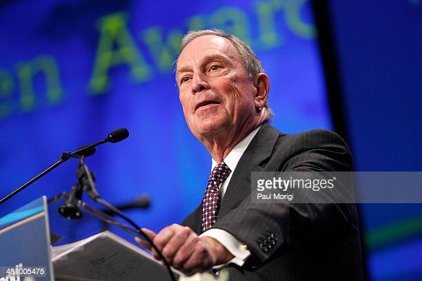 Former NYC Mayor Michael Bloomberg makes a few remarks after receiving the Global Citizen Award at the Planned Parenthood Federation Of America's...