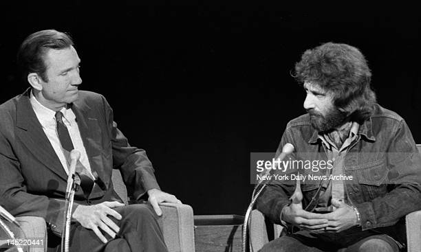 Former NYC Police Officer Frank Serpico as he appeared on NBC with Ramsey Clark at 30 Rockefeller Plaza this morning Knapp Commission