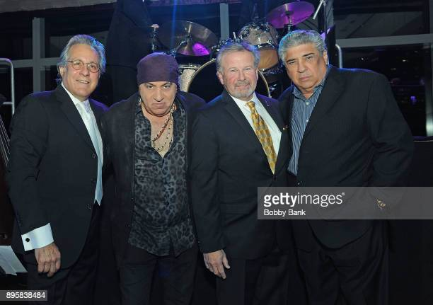 Former NYPD Detective Kevin Schroeder Steven Van Zandt Max Weinberg and Vincent pastore attend the 3rd Annual Little Steven's Policeman's Ball at...
