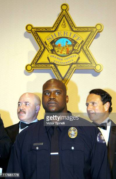 LR Former NYPD Police Chief Dernard Kerik Port of Los Angeles Police Reserve Officer Shaquille O'Neal and Gerald Parsky