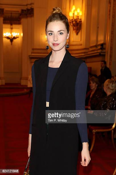 Former NYT member and actress Freya Mavor attends as the National Youth Theatre celebrates its Diamond Anniversary hosted by HRH The Earl of Wessex...
