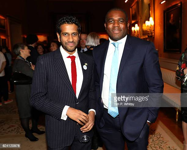 Former NYT member Prasanna Puwanarajah and David Lammy MP attend as the National Youth Theatre celebrates its Diamond Anniversary hosted by HRH The...