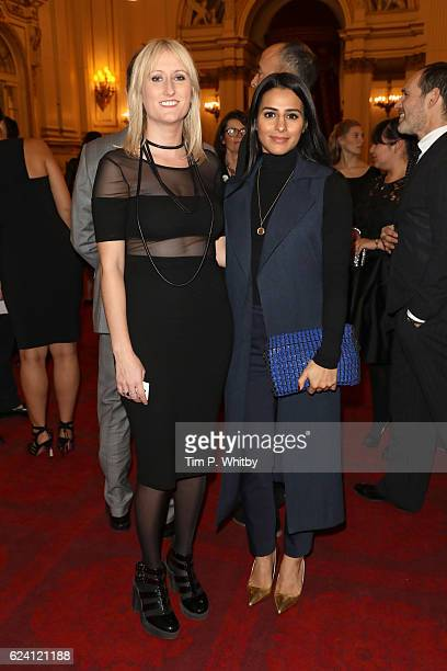 Former NYT members Lauren O'Rourke and Sair Khan attend as the National Youth Theatre celebrates its Diamond Anniversary hosted by HRH The Earl of...