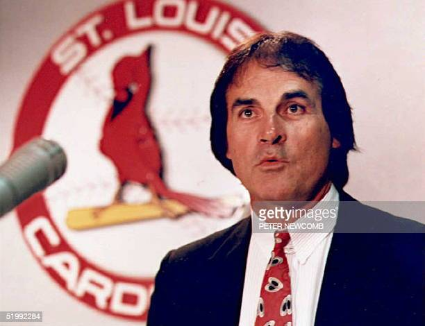 Former Oakland Athletics manager Tony LaRussa discusses AnheuserBusch's plans to sell the St Louis Cardinals 25 October in St Louis LaRussa knew of...