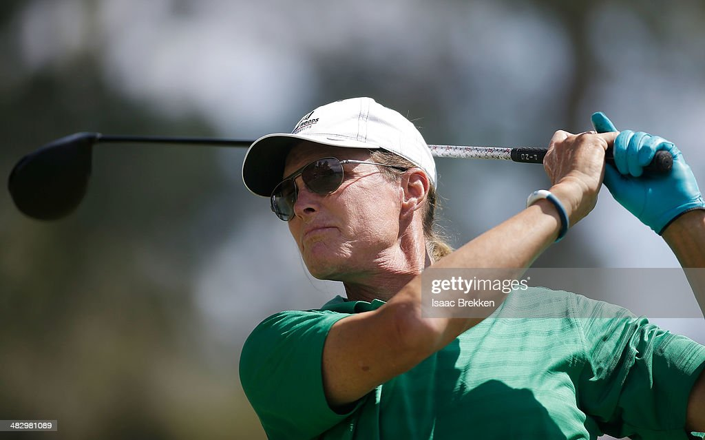 Former Olympian and television personality Bruce Jenner hits a tee shot during Aria Resort & Casino's 13th Annual Michael Jordan Celebrity Invitational at Shadow Creek on April 5, 2014 in North Las Vegas, Nevada.
