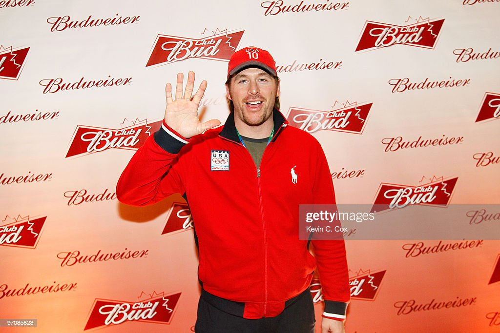 Former Olympian Casey Puckett arrives at the Club Bud Budweiser Party on February 25, 2010 at the Commodore Ballroom in Vancouver, Canada.