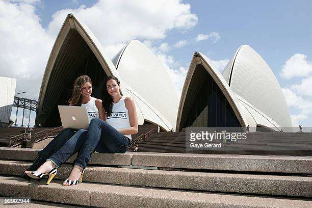 Former Olympian Elka Whalan and former Miss Australia model Erin McNaught launch the Aussievault social history website dedicated to all things...