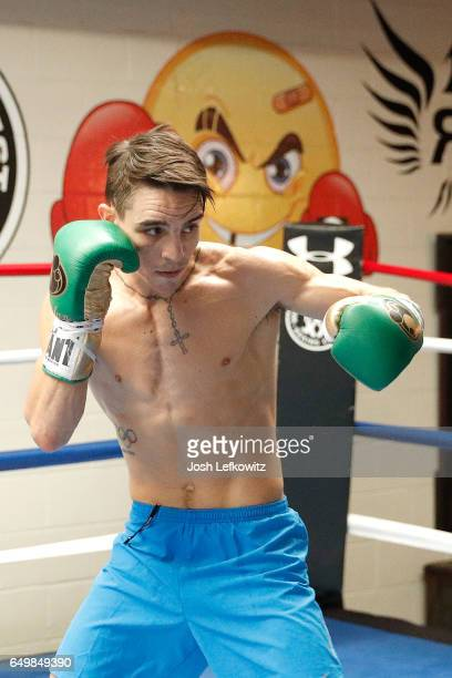 Former Olympian Michael Conlan of Ireland trains during a media workout session at Wild Card West on March 8 2017 in Santa Monica California Conlan...