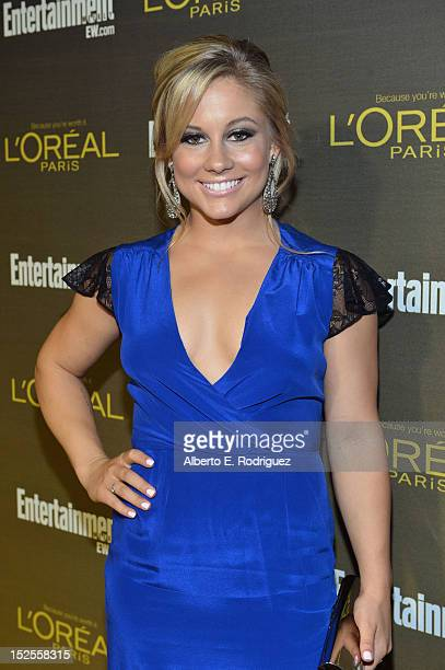 Former Olympian Shawn Johnson attends The 2012 Entertainment Weekly PreEmmy Party Presented By L'Oreal Paris at Fig Olive Melrose Place on September...