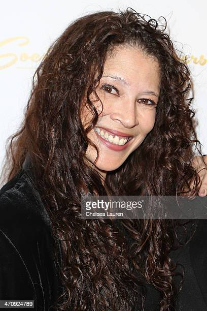 Former Olympian Tai Babilonia arrives at the 21st ELLA Awards at The Beverly Hilton Hotel on February 20 2014 in Beverly Hills California