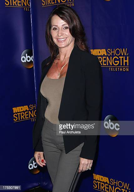 Former Olympic Athletes Nadia Comaneci attends the Muscular Dystrophy Association's 48th annual MDA Show Of Strength telethon day 2 at CBS Studios on...
