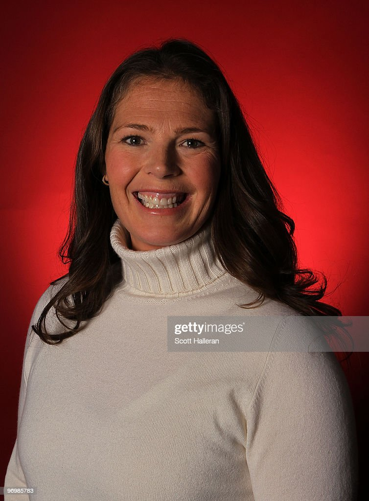 Former Olympic downhill skier Picabo Street poses in the NBC Today Show Studio at Grouse Mountain on February 23, 2010 in North Vancouver, Canada.