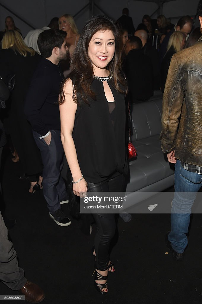 Former Olympic figure skater Kristi Yamaguchi attends The Playboy Party during Super Bowl Weekend, which celebrated the future of Playboy and its newly redesigned magazine in a transformed space within Lot A of AT&T Park on February 5, 2016 in San Francisco, California.