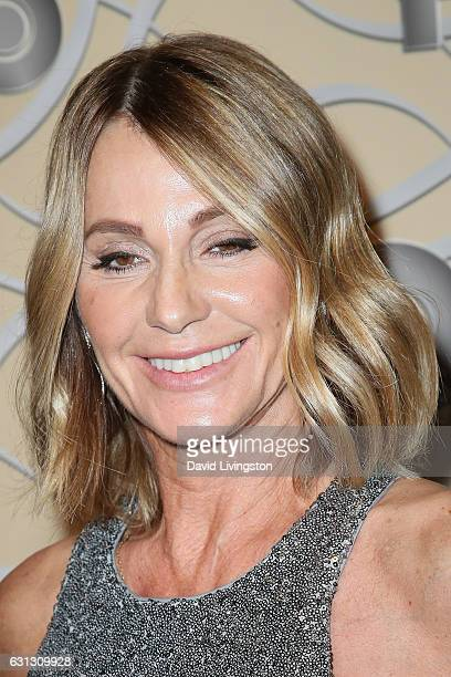 Former Olympic gymnast Nadia Comaneci arrives at HBO's Official Golden Globe Awards after party at the Circa 55 Restaurant on January 8 2017 in Los...