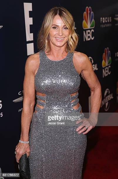 Former Olympic gymnast Nadia Comaneci attends the Universal NBC Focus Features E Entertainment Golden Globes after party sponsored by Chrysler on...