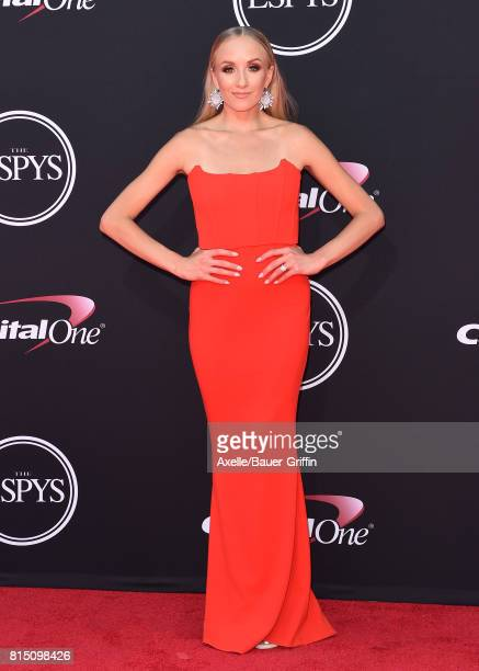 Former Olympic gymnast Nastia Liukin arrives at the 2017 ESPYS at Microsoft Theater on July 12 2017 in Los Angeles California