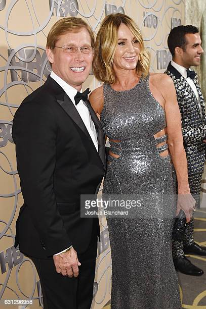 Former Olympic gymnasts Bart Conner and Nadia Comaneci attend HBO's Official Golden Globe Awards After Party at Circa 55 Restaurant on January 8,...